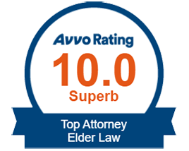 Avvo 10.0 rating superb top Attorney for Elder Law